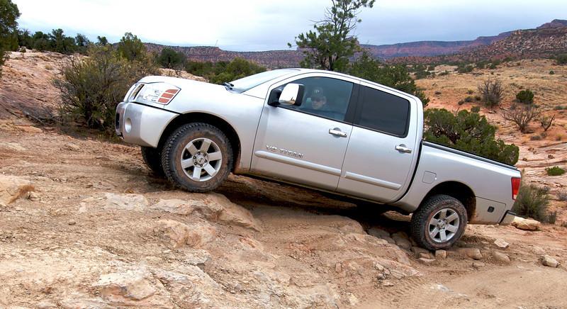 Phil maneuvering his Nissan Titan.