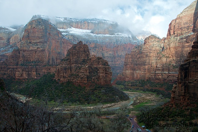 Zion National Park - view from Observation Point Trail