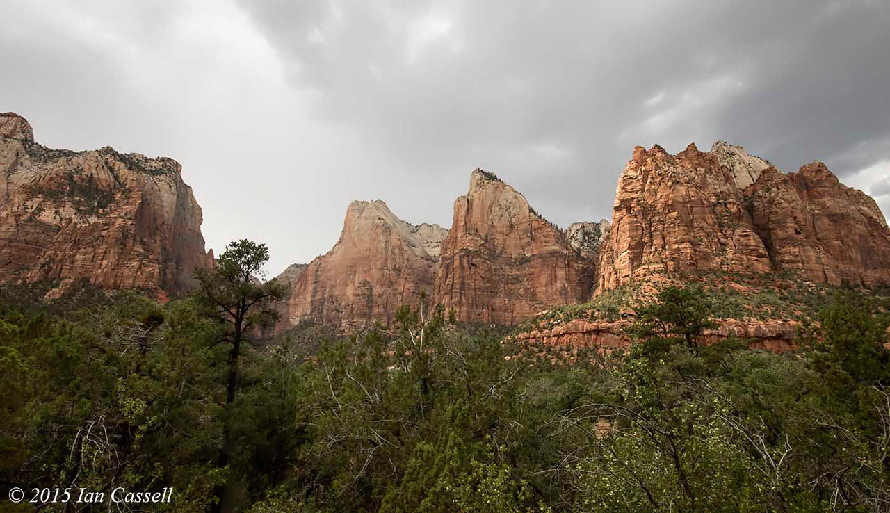 Court of the Patriarchs<br /> Zion Canyon