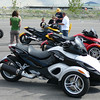 BRP Spyders were available for demo rides at MMP. The yellow one had an aftermarket pipe on it and sounded quite good.