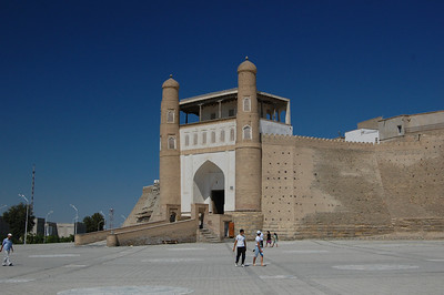The entrance to the Ark, former residence of the Emir.