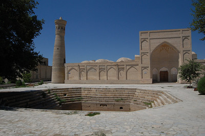 Another one of 70 pools scattered across Bukhara. All but 2 now lie empty like this one.