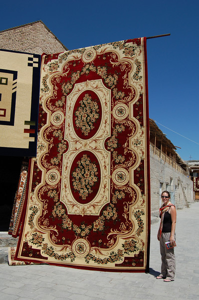 Bukharan carpets are not designed with 'bijou' homes in mind!