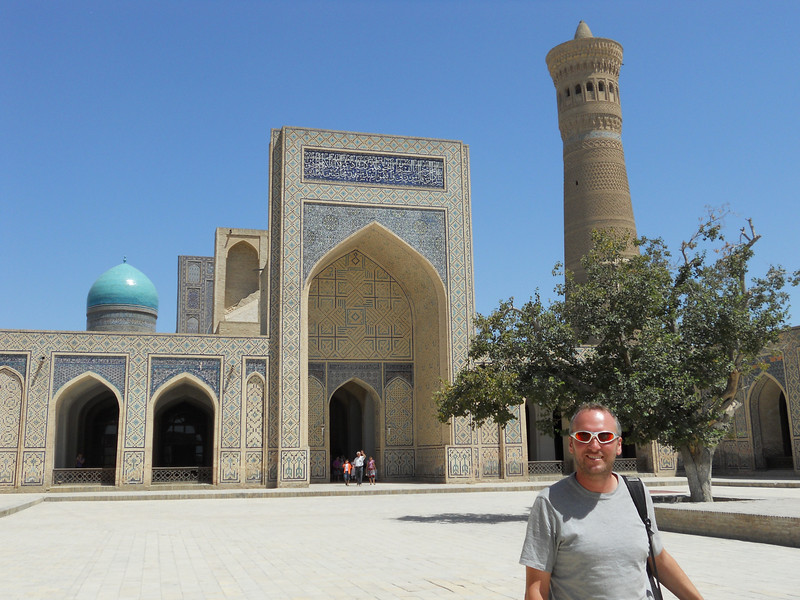 In the courtyard of the Kaylon Mosque.