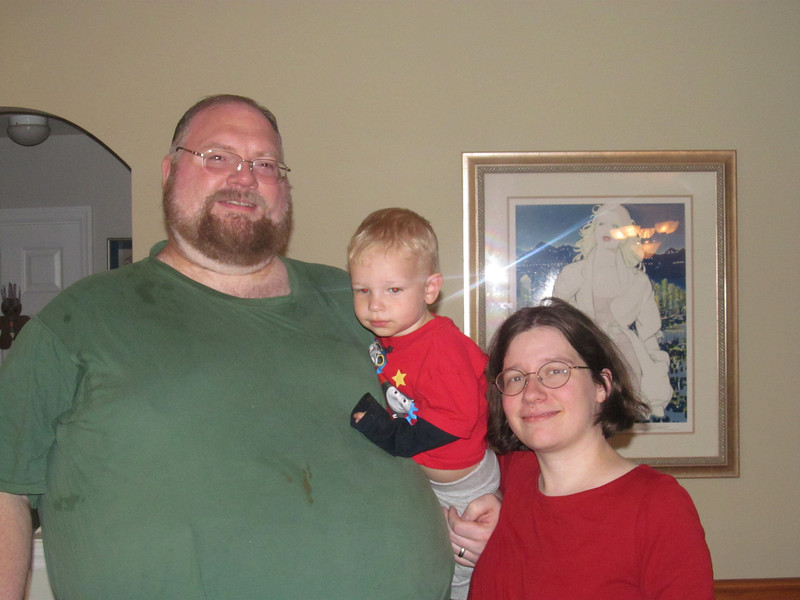 Last picture of the three of us before Virginia was born (sadly, you can't see Carol's belly in this shot.  But it was there.)  This is at Wendy and Doug Dwyer's house, who were totally awesome in watching Edward during Carol's labor.