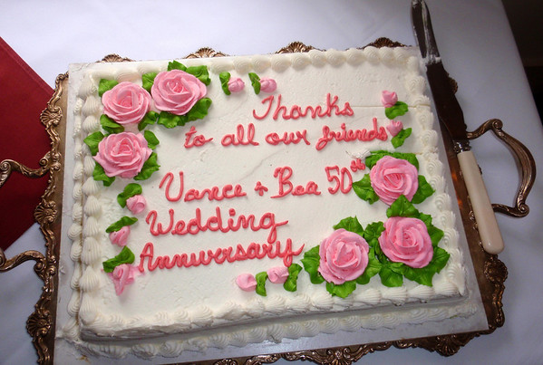 VANCE AND BEA'S 50TH WEDDING ANNIVERSARY