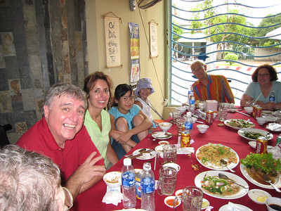 A wonderful lunch with the entire group, about an hr. or so from HCMC.