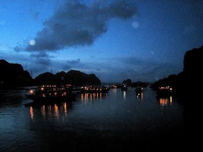Halong Bay at night