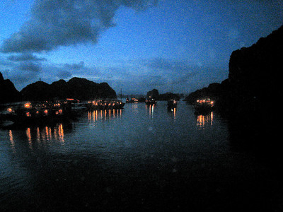 Halong Bay at night