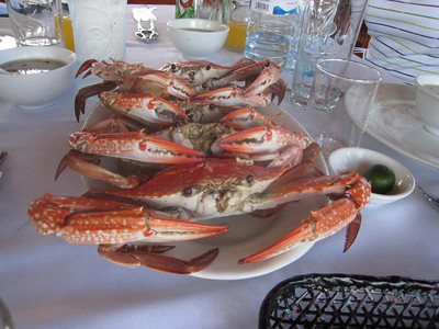 Very nice roasted crabs