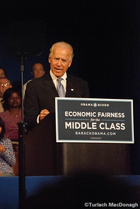 VIce President Biden speaks in Exeter New Hampshire.
