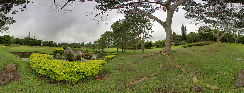 "The final hole at the amazing Experience at Koele Golf Course on the island of Lana'i, Hawaii.  Click on the link to load the 360 pano view. <a href=""http://360pano.org/koele18/flag.htm"">http://360pano.org/koele18/flag.htm</a> - Joe West Photography"