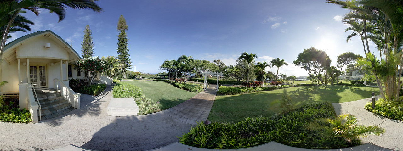 "The Honolua Chapel, near the Ritz-Carlton Kapalua on the island of Maui, is a beautiful place for a wedding ceremony.   Click on the link to view a 360 degree VR produced by Joe West Photograpy.    <a href=""http://360pano.org/honoluachapel/1.htm"">http://360pano.org/honoluachapel/1.htm</a>"
