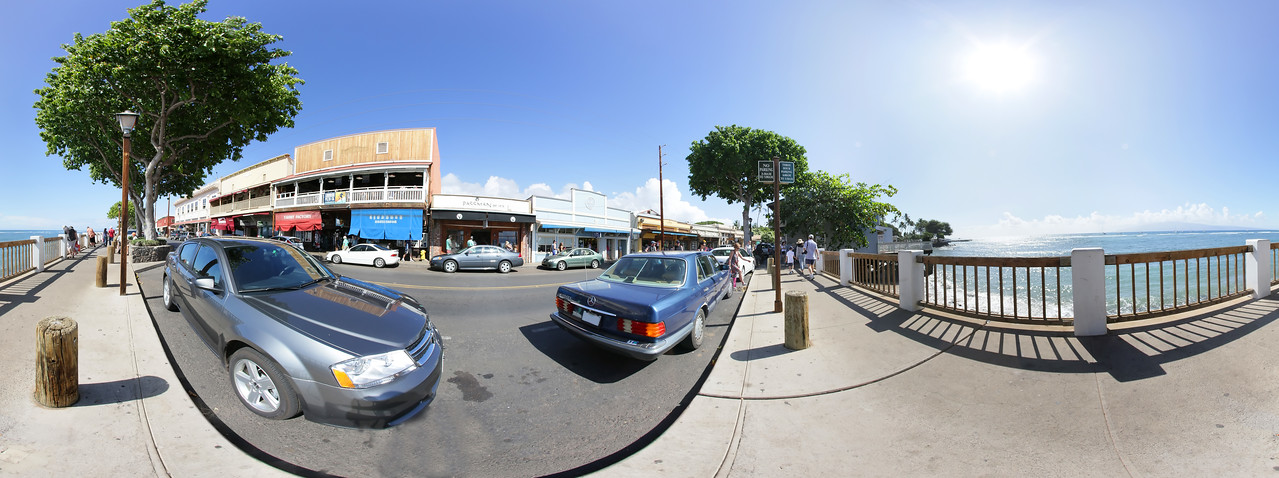"Lahaina - Front Sreet - Maui.   Click on link to view 360 viewer:  <a href=""http://360pano.org/lahaina/front.htm"">http://360pano.org/lahaina/front.htm</a> - Joe West Photography"