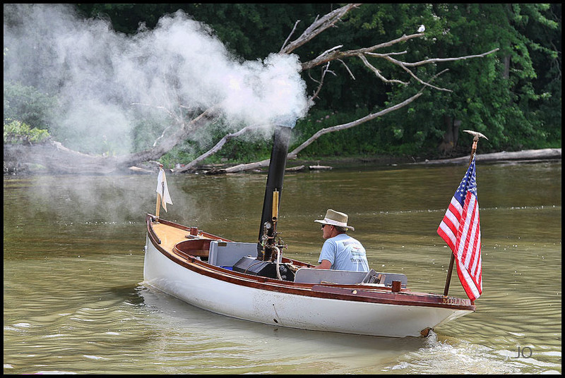Steam Boat convention in Vergennes, Vt. taken this summer...They built their boats this fellow is minus a canopy/roof  but he sure did blow off steam..