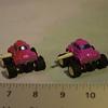 Very small racing bug, windup, purple