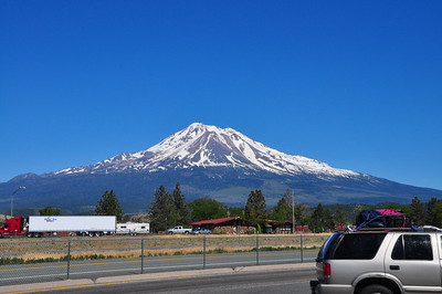 Mt. Shasta along I-5 in Northern CA.
