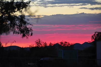 AZ. sunset Tucson.