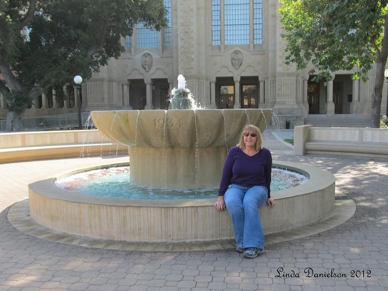 Me. On a fountain's edge.