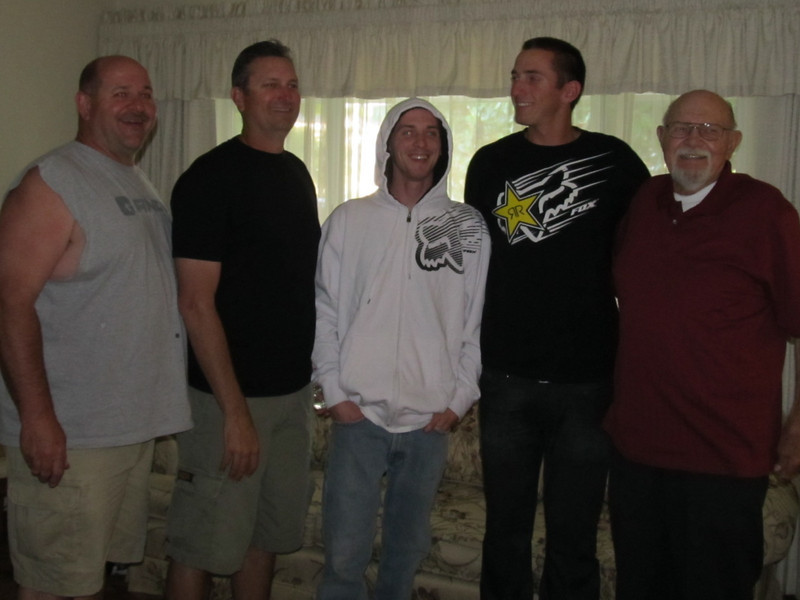 """The boys"" of my family......<br /> Brother David, Brother in law Rob, Nephew Anthony, Nephew Jake, and Dad."