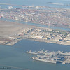 Alameda shipyard, taken from the airplane as we were leaving California