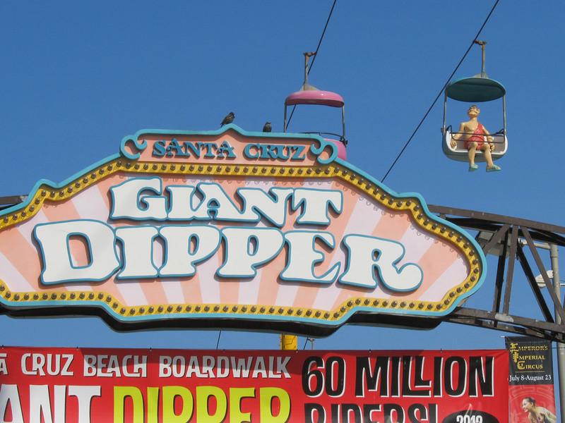 """...the great roller coaster arose amid screams above the golden strand of the Santa Cruz Boardwalk ... a tooth-loosener, eyeball-popper, and one long shriek."" ~Herb Caen"