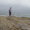 Just me, on the rocks at Natural Bridges State Beach