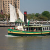 Passing the city run Savannah Belle Ferry that goes across the river to two hotels.  Free boat ride.