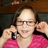 Gracie put my glasses on, put the phone to her ear and she was all set....