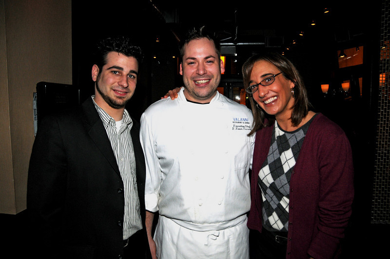 Chris Godson, Chef Evan Turney and Faith Proetto