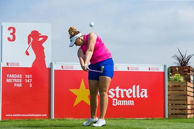 Valdis Jonsdottir of Iceland during a practice round