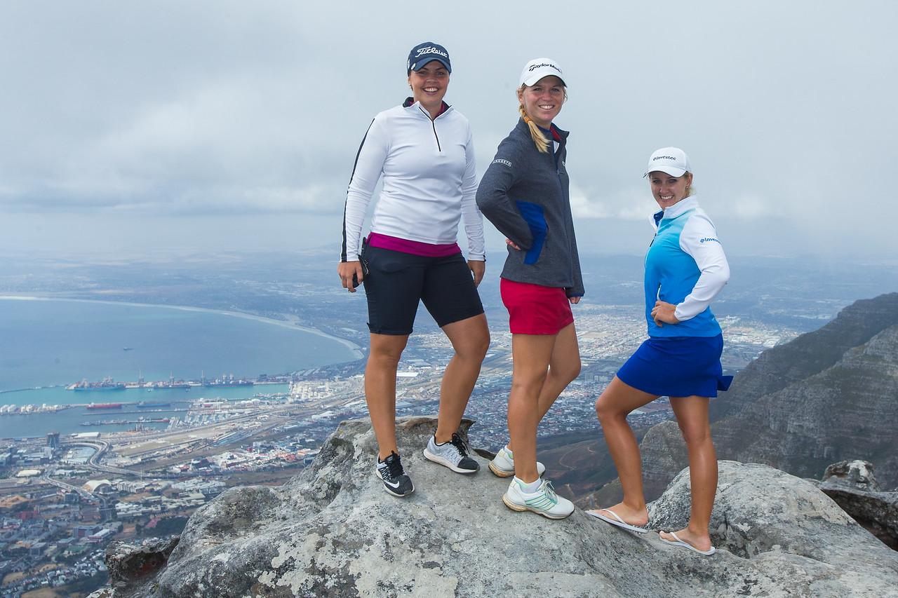 Valdis Johnsdottir,Camille Chevalier and Lejean Lewthwaite, on Table Mountain
