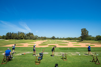 A general view of the new driving range