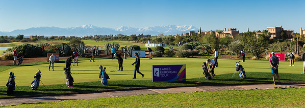 A general view of the putting green before the final round