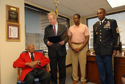 Van Hollen Awards Tuskegee Airmen's Congressional Gold Medal to DOTA Major Edward Talbert