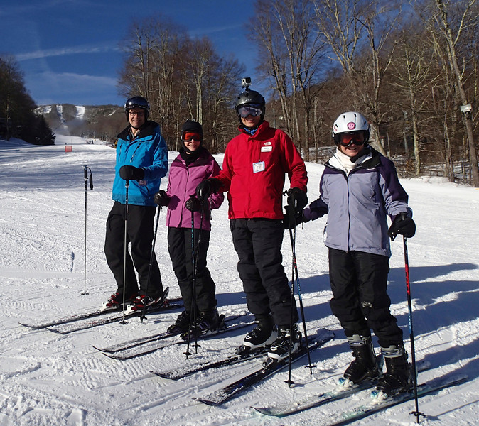 Vance with Winston-Salem Ski and Outing Club (WSSOC) friends at Sugar Mountain, NC 2013.