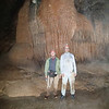 Larry Sumner and Vance in pool and in front of large columns, Worley's Cave, TN October 26, 2013.