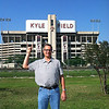 Vance in front of Aggie Stadium, College Station, Texas May 18, 2014.