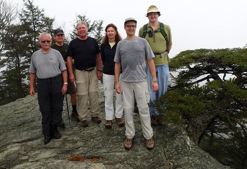 Vance leading Sierra Club hike to Moore's Knob, Hanging Rock State Park, NC, November 16, 2013.