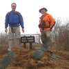 Vance with friend Ken Lumsden on the summit of Elk Knob, 2013.