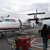 Boarding the small plane to vancouver