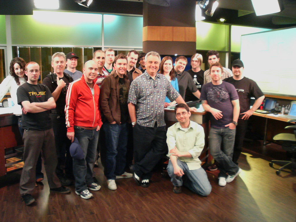 The Lab Crew <br /> Marcy, Chuck, Glenn, Aaron, Fraser (of Awesome Video Games), Matt, Silent Bob, Vic, Craig, Raj, Leo, Kate, Ryan, Richard, Enzo, Eric, and Rob. Sean is kneeling.