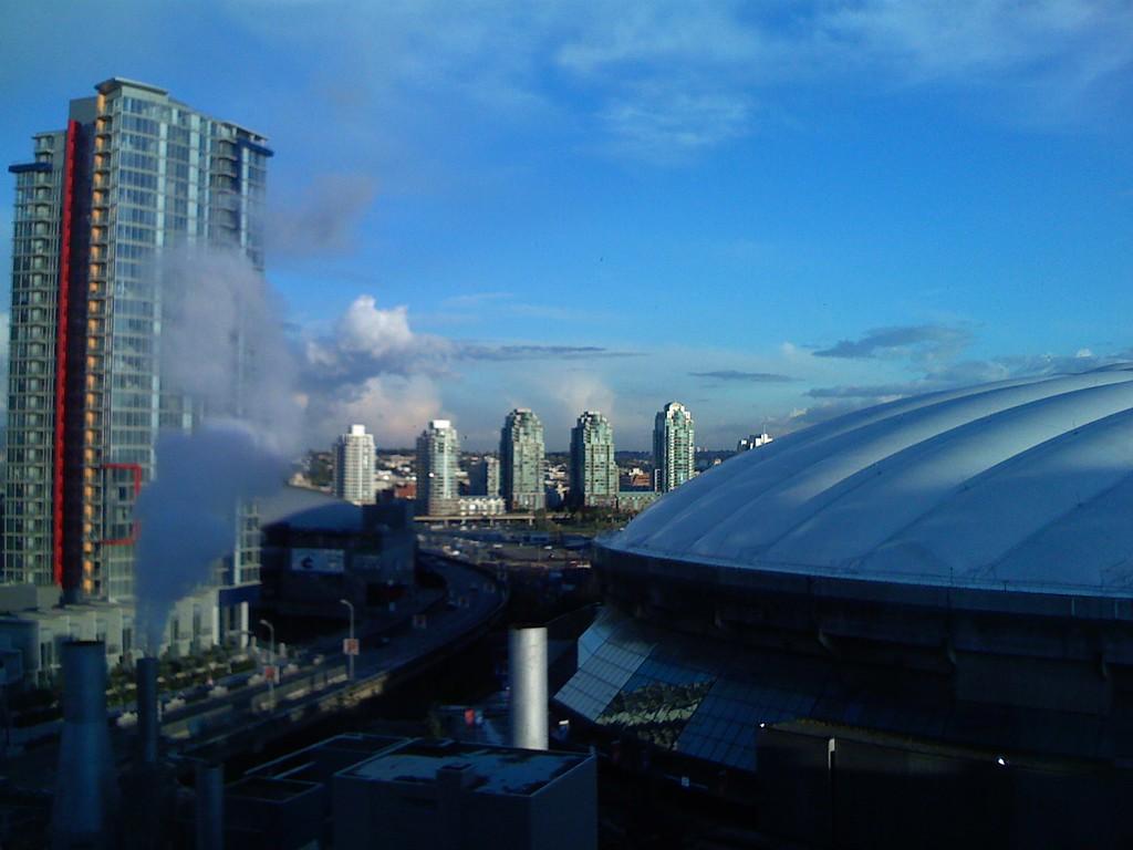 iPhone <br /> BC Place Skyline - via iPhone