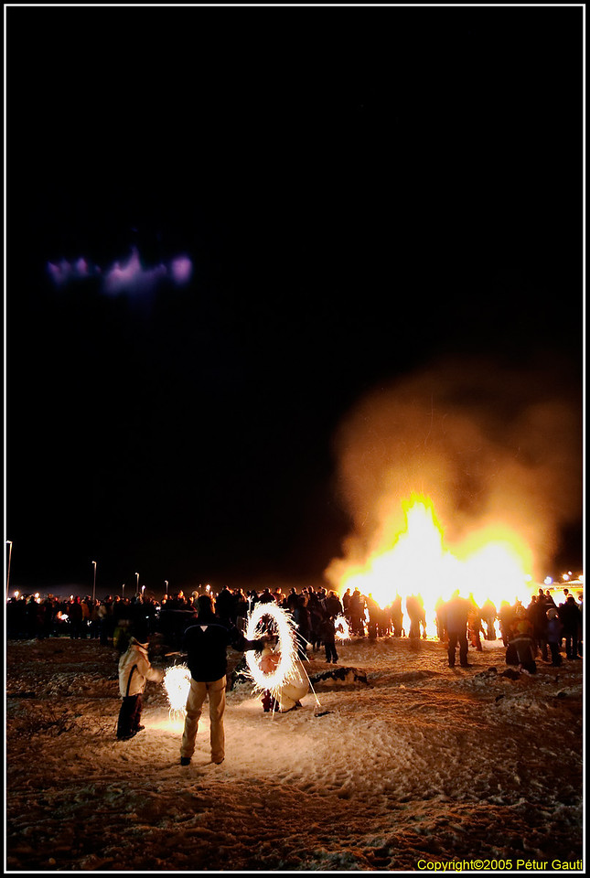 Alien monster looking at the bonfires (#1156)