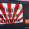 Atom, Bomb Baby Kuston Clothing sign on Philip Island, Victoria in October 2013