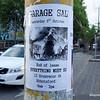 Garage sale poster in Victoria Street, Richmond, Melbourne in October 2013