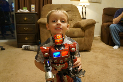 Lane and his new robot
