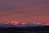 Sun rise over Rondane mountains
