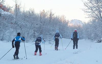 Ski training Dec 8th 2012 at Venabu