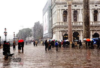 Snow storm in Venice